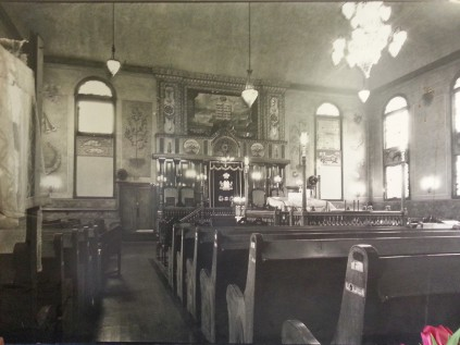 Interior of the Breed Street Shul in her glory days