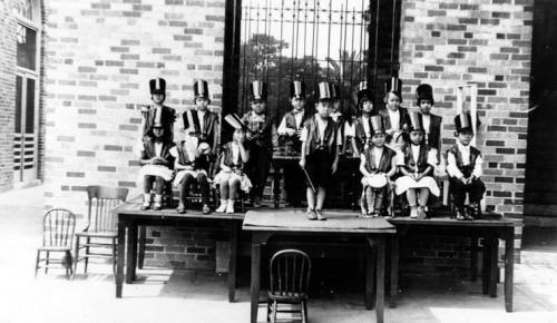 Boyle Heights' Second Street Elementary School band in 1930, made up of Japanese, Jewish, Russian, Armenian and Mexican students.