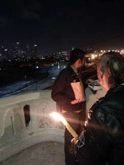 Shmueli Gonzales and Jesse Elliott, Havdalah with Los Angeles in the background