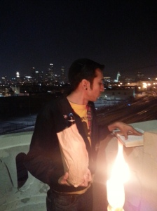 Shmuel Gonzales, Havdalah flames and downtown Los Angeles