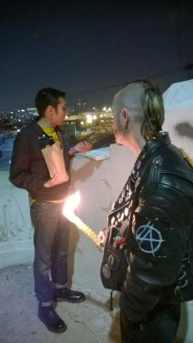 Punk Rock Havdalah, in Los Angeles. Photo Credit: Zero-Renton Prefect